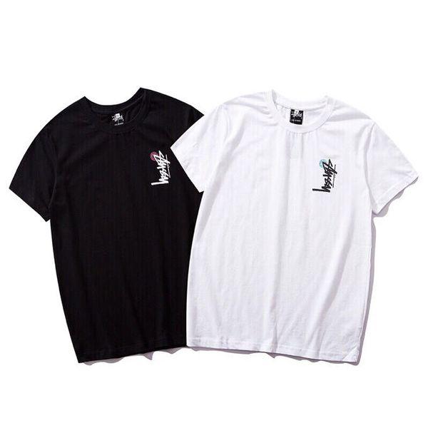 Erkek Tasarımcı Gömlek T Shirt Satranç tahtası dama kısa kollu Stussy bin kuş damalı cruise çift T Shirt boyutu M-2XL