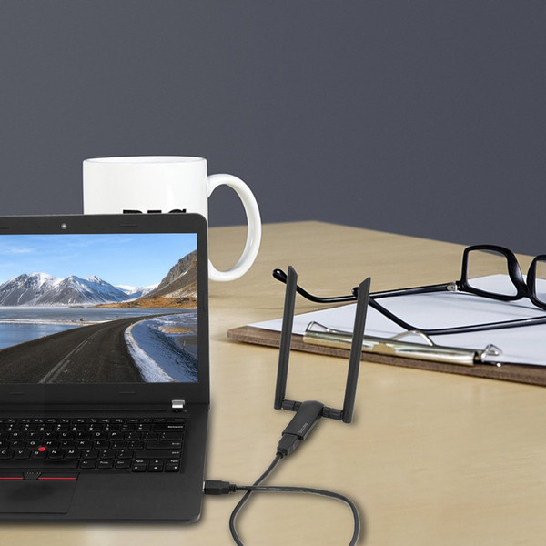 Meross WMA265 AC1200 беспроводной USB адаптер Super Speed USB 3.0 WiFi адаптер WiFi Dongle для портативных ПК таблетки GPS