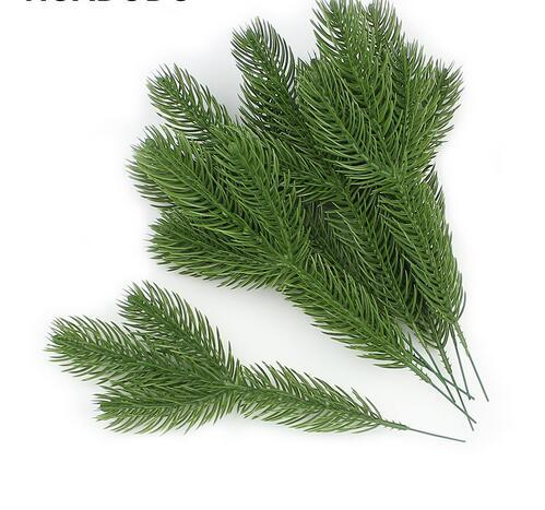 Artificial Pine Branches Fake Plants Artificial flowers Christmas Tree for Xmas Tree Ornaments Decorations GB741