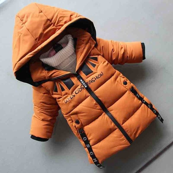 good quality childrens winter down cotton Jackets 2019 new boys warm winter down cotton long coat thickening warm outerwear