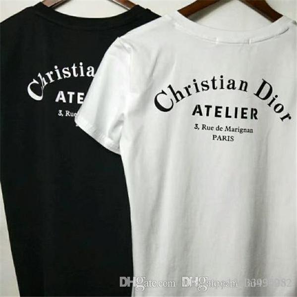 Meilleure vente 2019 Designer marque T-shirt à manches courtes en coton de haute qualité Prints t-shirt pour hommes vêtements pour femmes O Neck Tees