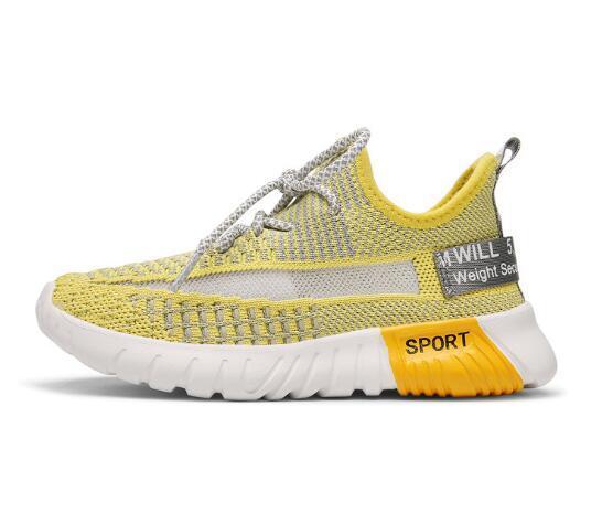 Весенняя обувь 2019 Звездная детская летучая ткачество воздухопроницаемой спортивной обуви для мальчиков и девочек WL686