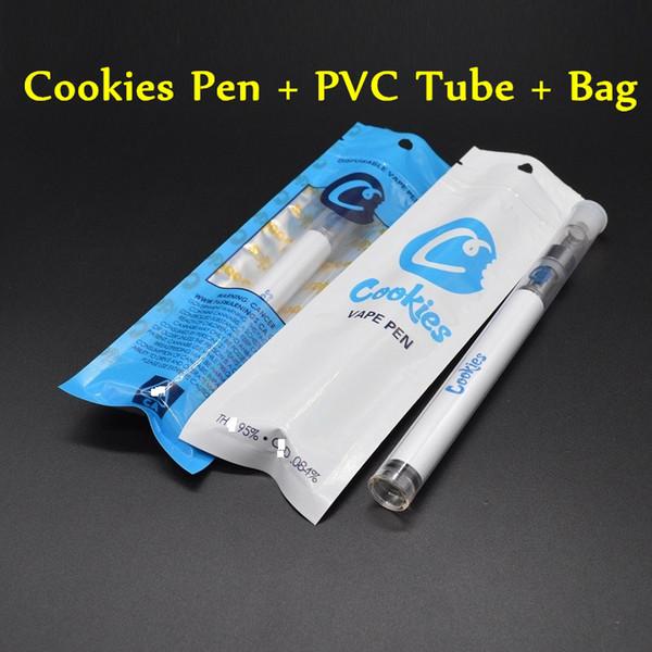 Caneta Vape descartável Cookies Carrinhos 280 mah Bateria Starter Kit e cigarros Cartuchos Saco Embalagem Cerâmica 0.5 ml Vazio Vaporizador Óleo Grosso