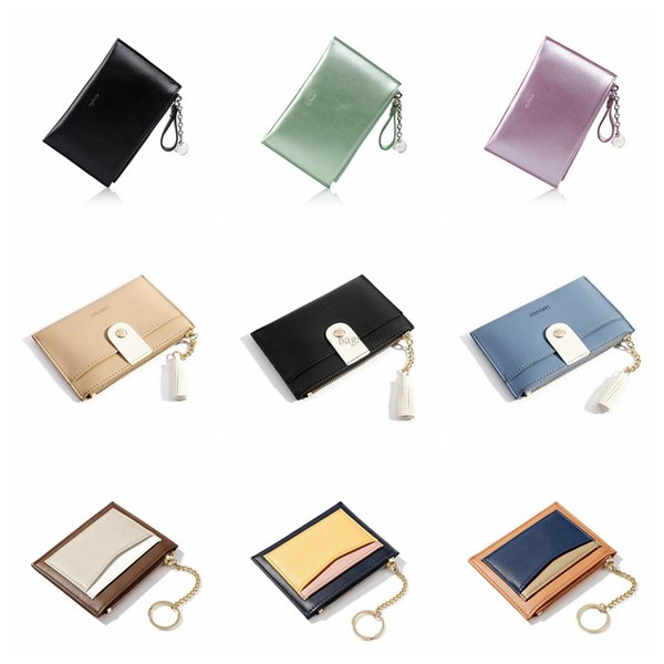 Women Laser Mini Coin Purse Fashion Key holder Lady Small Short Wallet Credit Card Holder Leather Coin Bags Free Shipping