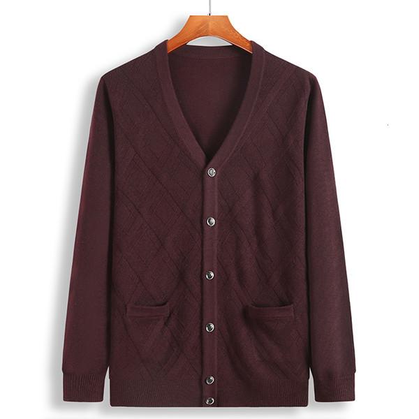 Taille 8XL 7XL 6XL Cardigan Men 2019 New hiver chaud épais chandail des hommes de haute qualité tricotée Sweatercoat Réchauffez Cardigan Masculino V191022