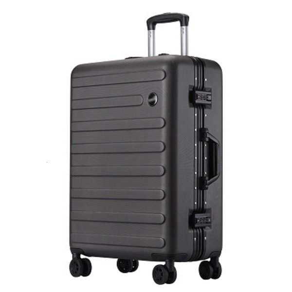 Super light 100% aluminum frame Rolling Luggage Customized business solid color wear-resistant Suitcase CJ191128