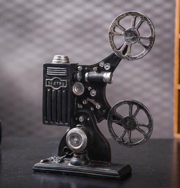 [European] Jingmei retro projection projector model decoration Bar Cafe resin jewelry photography props poppy flower