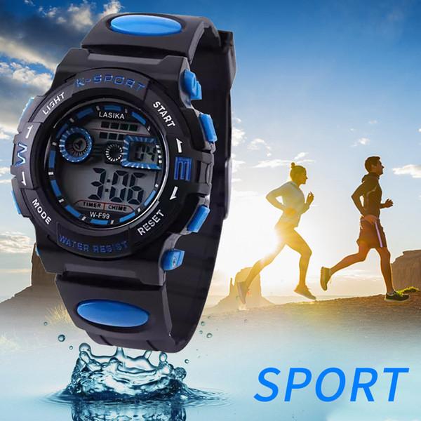 Мода электронные часы электронные часы мода мужские часы открытый многофункциональный будильник студент водонепроницаемый Спорт LD