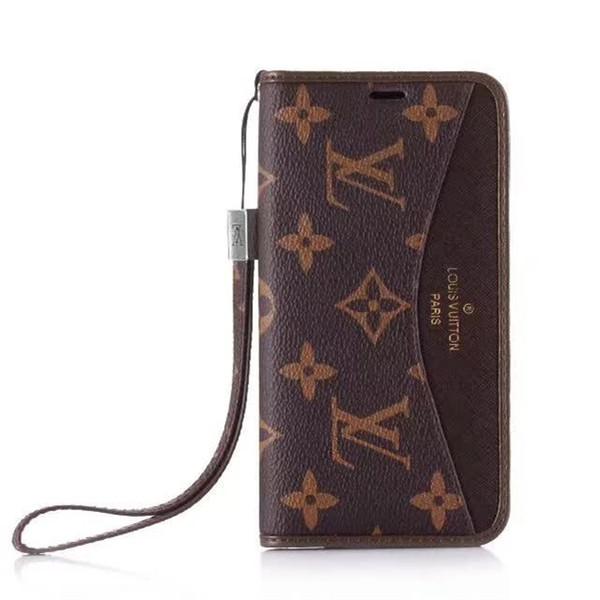 Mode De Luxe Designer En Cuir Portefeuille Téléphone Cas pour iPhone X XR Xs max 6 6 plus 7 7 plus 8 8 Plus Top Qualité Téléphone Cas Titulaire de la Carte Couverture