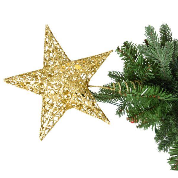 Decorazioni di Natale Stella di Natale Albero venduti brillata metallo Hallow Stella Cima di albero di Natale l'albero di natale New Year Decorazioni