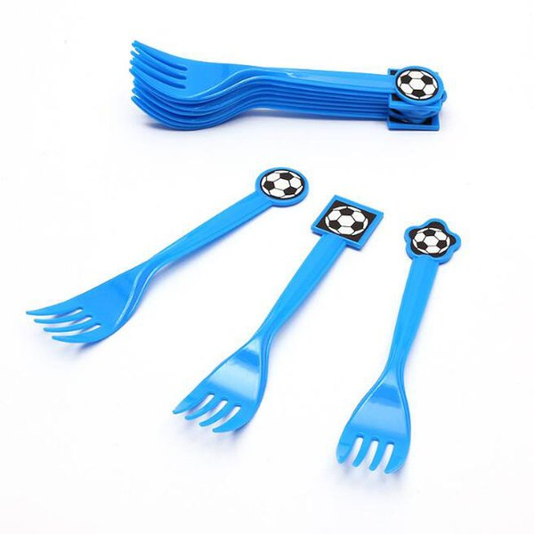 Cartoon Disposable Tableware Football Plastic Knife Fork Spoons Straw Kid Boy Birthday Party Supplies Decoration ZC0596