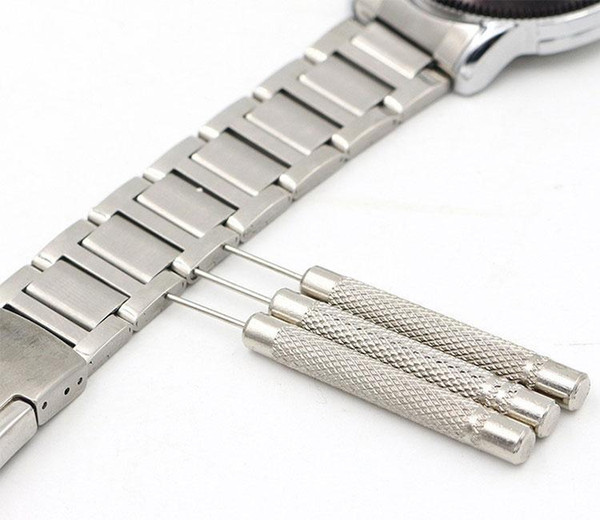 30pcs/ lots High quality Stainless Steel Watch for Band Bracelet Steel Punch Link Pin Remover Repair Tool 0.7/0.8/0.9/1.0mm New