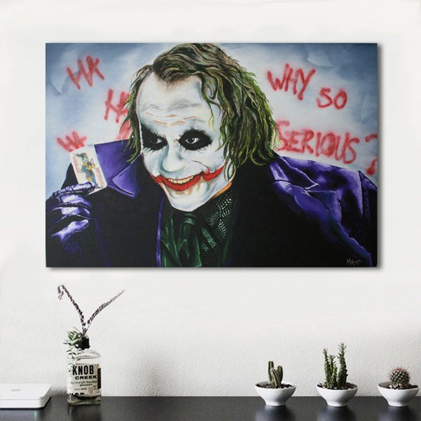 1 Piece Canvas Picture Home Decor The Clown Who Turns Magic Painting Wall Art Living Room Modern No Frame