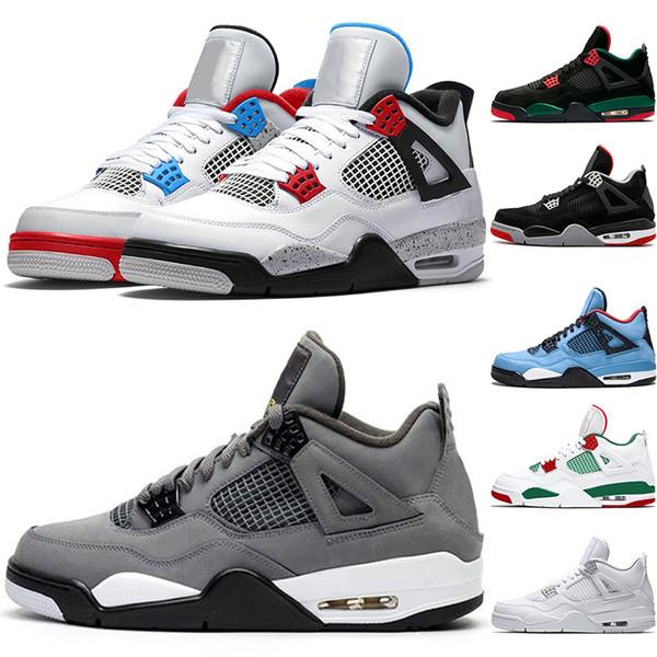 4 4s Yeni Basketbol Ayakkabı Sizekk 7-13 2019 Cactus Jack Mavi Erkek Eğitmen Erkekler Atletik Spor Spor Ayakkabılar için Bred og
