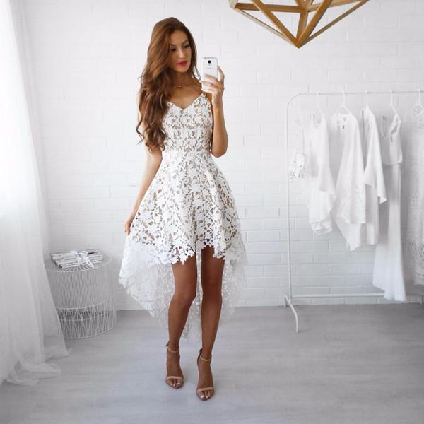 Neue Art- und Weisefrauen Isolationsschlauchbügel Sleeveless reizvolle Vestidos V-Ansatz Spitze höhlen heraus Frühlings-Sommer-Maxi Kleid aus