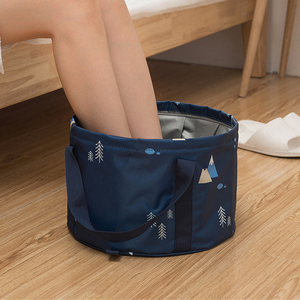 Hand-held washbasin, vegetable bag, multi-functional outdoor bathtub, portable tourist folding foot wash basin for household use