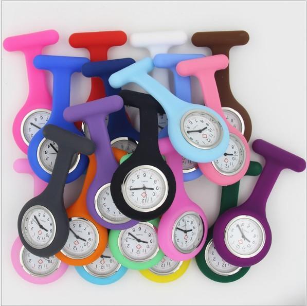 La enfermera del silicón del reloj médicos Modelos lindos Fob reloj de cuarzo Relojes de bolsillo médico médicos relojes del Fob