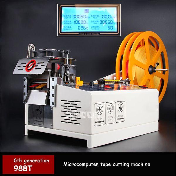 top popular 988T Automatic Computer Tape Cutting Machine Hot And Cold Cutting Machine Elastic Band Tape Belt 110V 220V 400W 2020