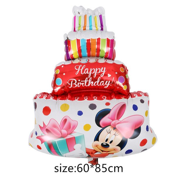 Giant Mouse Balloon Cartoon Foil Balloon Enfants Décorations De Fête D'anniversaire Jouets Classiques Cadeau