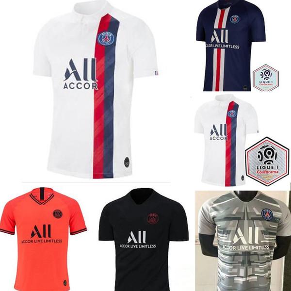 2019 2020 париж третий трико трикотаж MBAPPE футбол Кавани VERRATTI топ таиланд 19 20 париж футбол рубашка KIMPEMBE Camiseta де Futbol