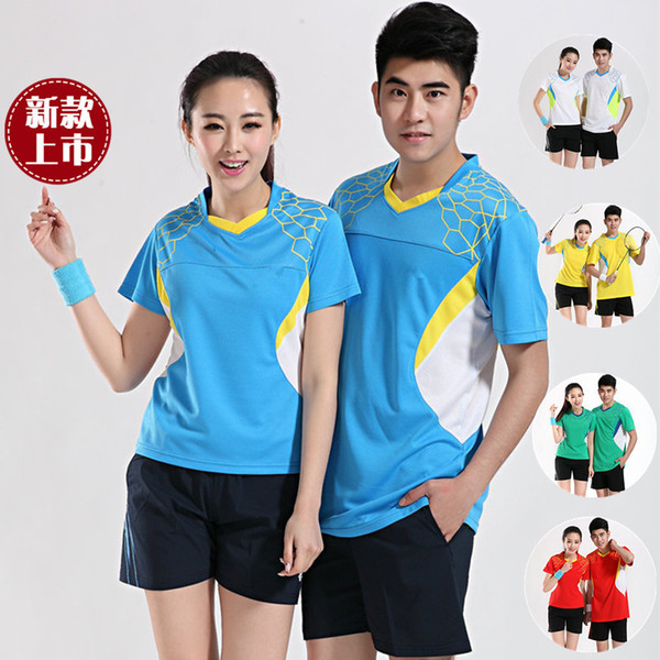D5 Badminton Suit Sportswear for Men and Women Short Sleeve T-shirt for Leisure Running Basketball casual wear Table tennis Y-15310