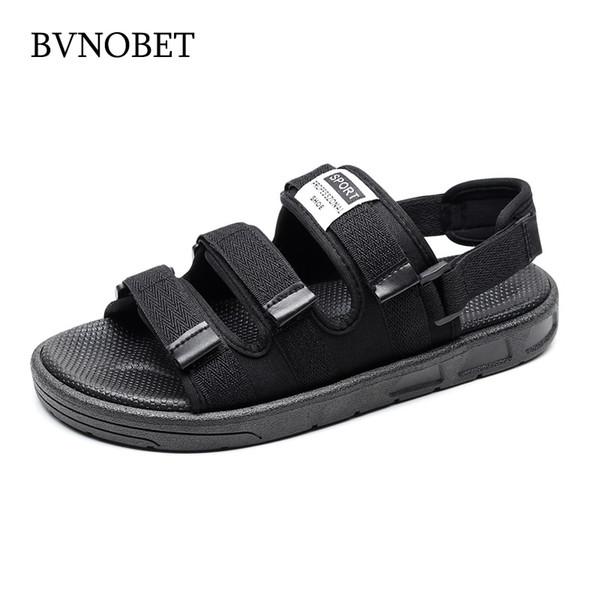 BVNOBET Marca Homem de Verão Sandálias de Praia dos homens Sapatos Ao Ar Livre Das Mulheres Sapato Casuais Tamanho Grande Não-Deslizamento Plana Sapatos Zapatos Hombre