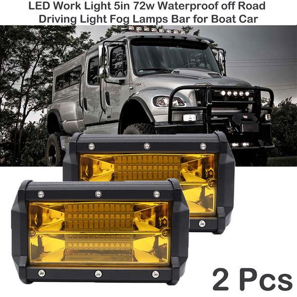 Led Work Light 72w Waterproof Offroad Car Truck Tractor Boat Trailer Suv Atv 12v Spot Flood Led Light Bar Work Work Led Light Work Led Lights From