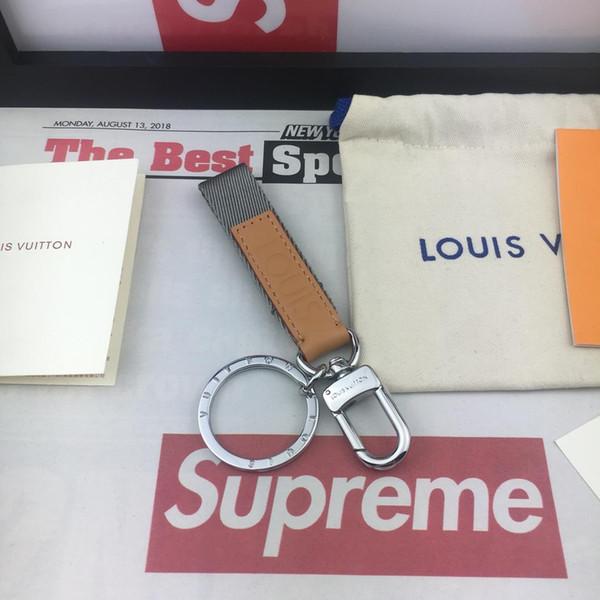 Tasarımcı anahtarlık moda araba anahtarlık aksesuarları marka yaratıcı erkek ve kadın anahtarlık hediye M0168 kutusu