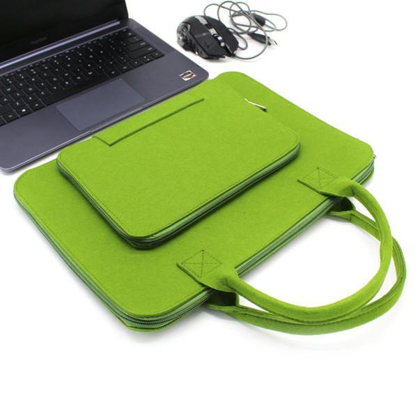 Sac ordinateur portable pour les femmes plusieurs hommes Compartments Felt Laptop Tote Sac à bandoulière Sac à main Sacoche d'ordinateur pour le travail scolaire Voyage