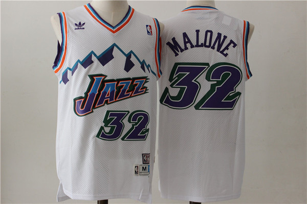 2d281c1dcf9 12 John Stockton 32 Karl Malone Utah mens Jazzs Mitchell & Ness 1996-97  Swingman basketball Jersey