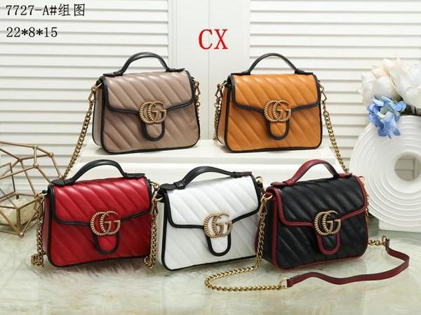 Borse borse CH donne del Tote della spalla della signora Leather nuovi stili borsetta di pelle CX nome famoso Borse Moda M Borse borsa CX7727