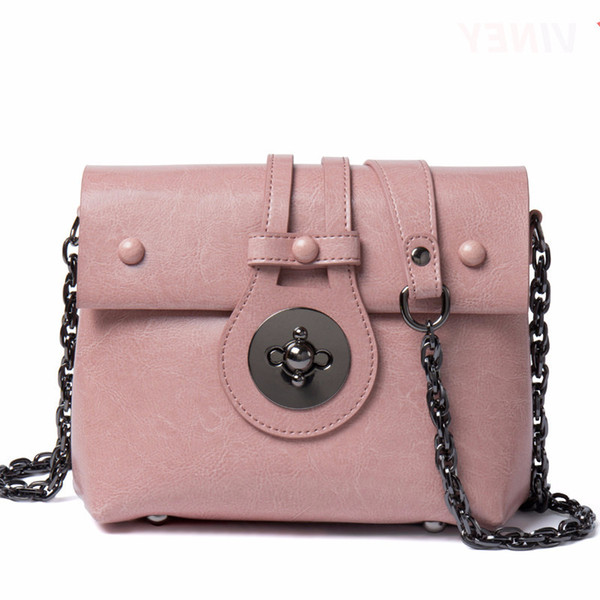 Individual2019 Schulter Einzel Allgleiches Messenger Chain Square Echtes Leder Woman Package Small Bag Tide