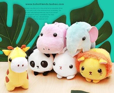 Doğum günü için sevimli Peluş Bebek kolye Doldurulmuş Karikatür Hayvanlar Tavşan Doll Panda Lion Oyuncak Fil Bebek Çocuk Hediyeleri
