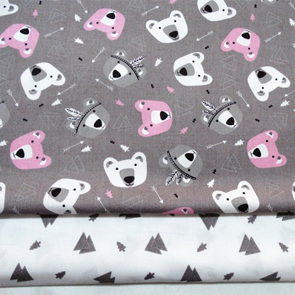 Forest bear and tree tree style 100%cotton fabric for baby cloth 10yards/lot tomo1842