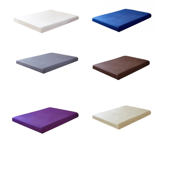 1pcs 100%Polyester Solid Fitted Sheet Mattress Cover With Elastic Band Bed Sheet Wholesale Drop shipping
