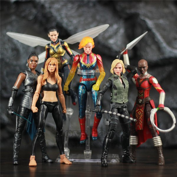 2019 Original Marvel Legends Avengers Heroines 6 Action Figure Captain Marvel Endgame Wasp Infinity War Black Widow Valkyrie Toys From Dao7831229