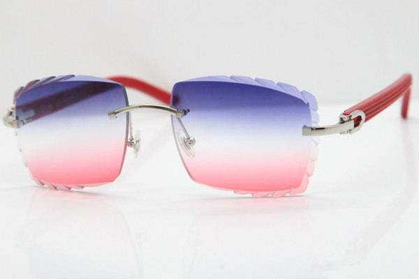 Silver Blue Red Lens