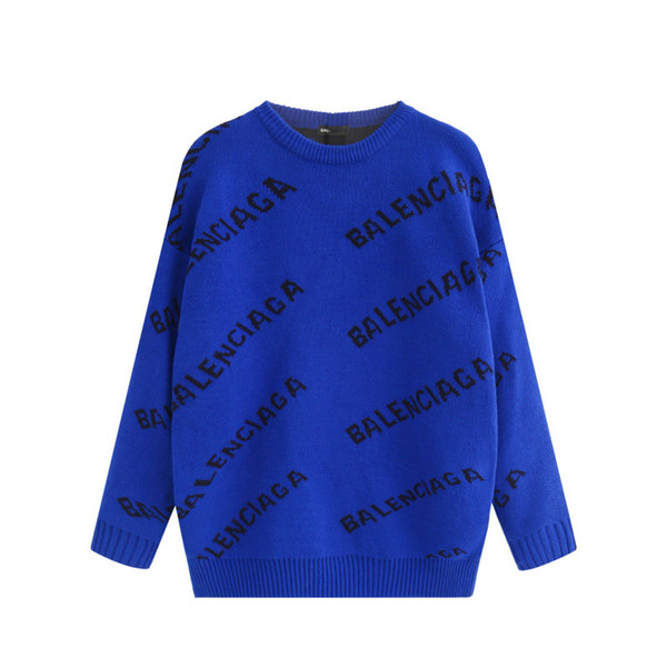 2019 Autumn And Winter New Loose Crewneck Fashion Sweatshirt Casual Men Women Pullover Couple Outfit Street Sweater
