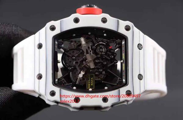 Mens Superlativo montanhismo racing RM35-02 camada de fibra de carbono preto japonês Miyota 9015 movimento automático relógios