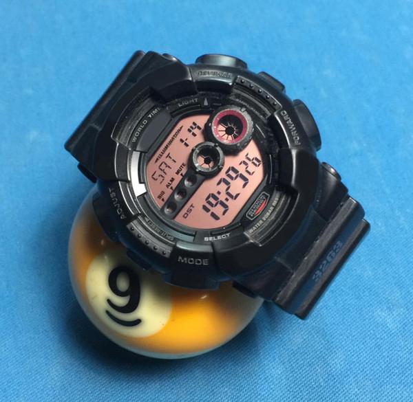 Venta al por mayor Dropship Shock Watches Black Gold Waterproof GD 100 Shock Sport Relojes LED Digital multifuncional Estudiante Deportes al aire libre Reloj