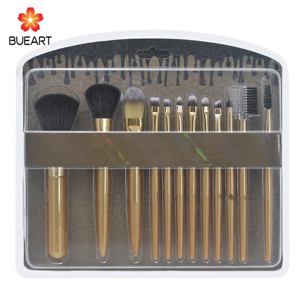 best selling Brand Makeup Brush Set 12 sets of professional paint foundation makeup eye shadow brush set DHL free shipping