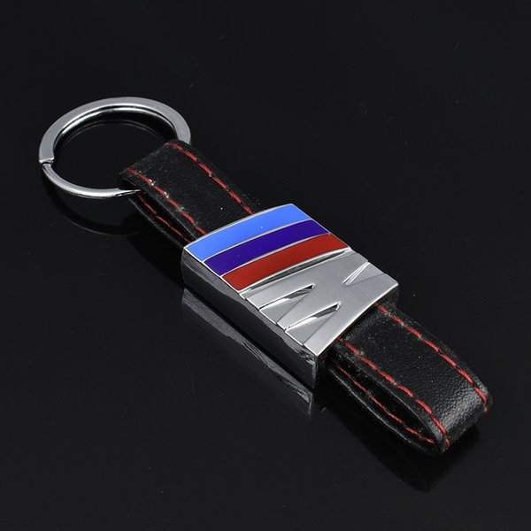 2 Pieces 3D Metal Leather Car Logo Keychain Keyring Key Chain Auto Car Key Ring Holder For Volkswagen Golf Rline Car Styling Accessories