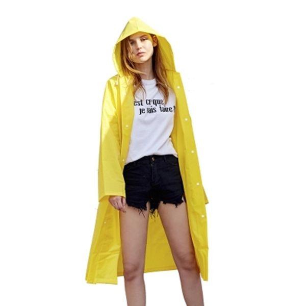 Hiking Rain Coat Waterproof Women Jacket Mens Yellow Clear Girls Transparent Raincoat Poncho Abrigos Mujer Impermeable 50A0232 #220035
