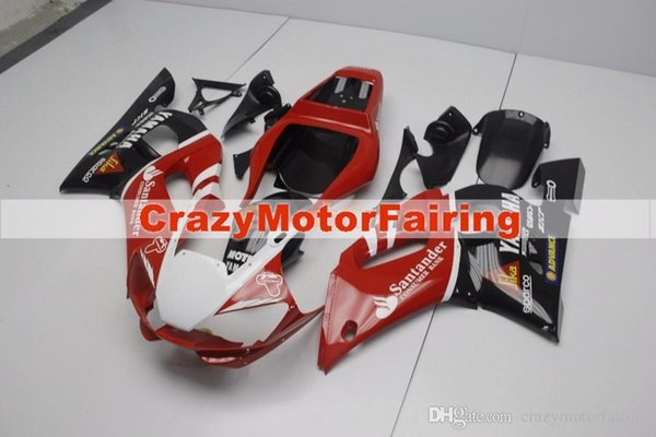 3 Free gifts New ABS Fairing Kits 100% Fitment For YAMAHA YZF-R6 98-02 YZF600 1998 1999 2000 2001 2002 bodywork set hot red black santander