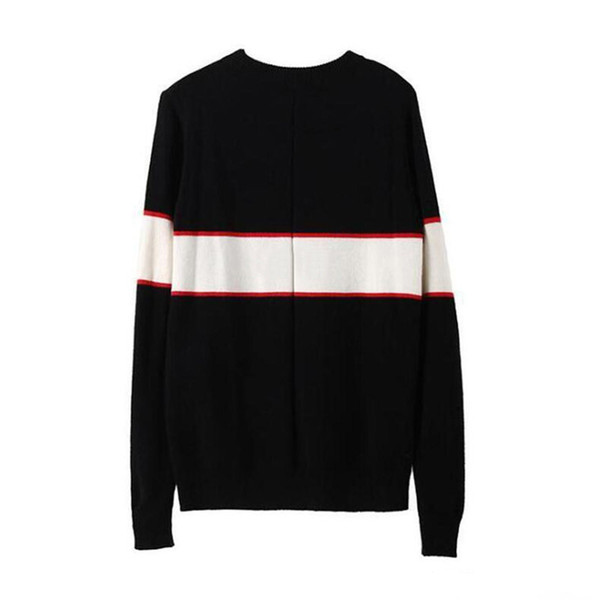 top popular Autumn Men's Sweaters Black Casual Sweater For Men Fashion Long Sleeve Letter Print Sweaters Pullover Sweaters For Men Women 2020