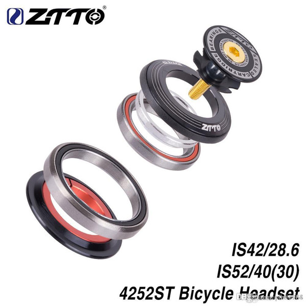 """ZTTO 4252ST MTB Bike Road Bicycle Headset 42 41.8 52mm 1 1/8 """"1 1/2"""" Tapered Straight fork integrated Angular Contact Bearing"""