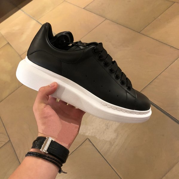 New Hot Brand designer Men Women Fashion high Quality Leather Low Top Sports Sneakers White Shoes