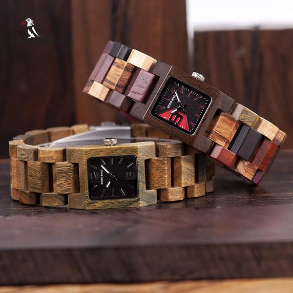 Bobo Bird 25mm Small Women Watches Wooden Quartz Wrist Watch Timepieces Best Girlfriend Gifts Relogio Feminino In Wood Box Y19062402