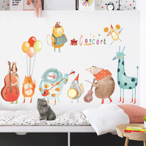 Colorful Music Cartoon Wall Stickers For Kids Rooms Baby Room Home  Decoration Animal Nursery Wall Decoration Decals Q190416 Childrens Bedroom  Wall ...