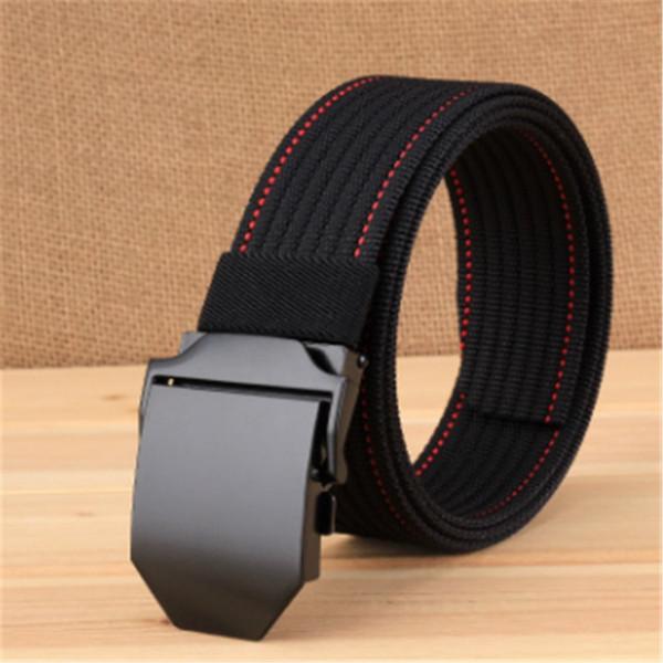 High Quality Men'S Belt Metal Buckle Plastic Nylon Belts 120CM Casual Jeans Belt Designer Men Fashion Comfortable Male Belts